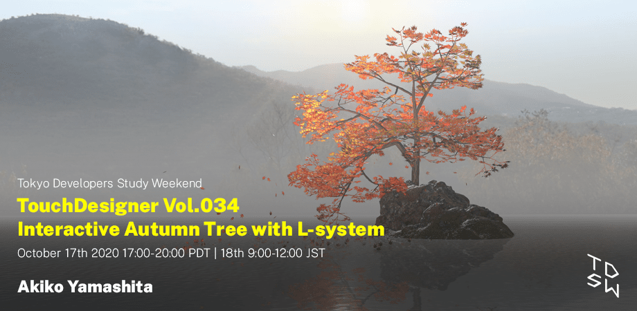 TouchDesigner Vol.034 Interactive Autumn Tree with L-system